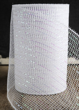 "White Sparkle Mesh 7"" wide x 60 Feet"