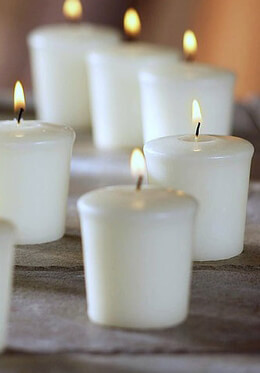 Votive Candles White Unscented  (30 pcs)