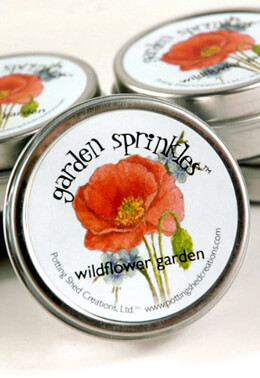 Organic Wildflower Seeds Favor Tin, Garden Sprinkles Wildflower