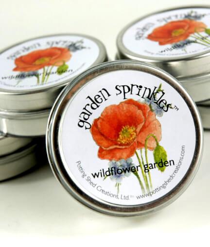 Organic Wildflower Seeds Favor Tin, Garden Sprinkles Wildflower