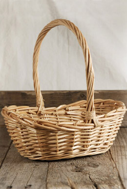 Flower Girl Wicker Basket 10 Inch