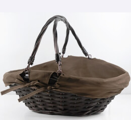 Wicker Basket with Cotton Cover 16.5in