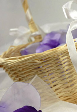 Wicker Flower Girl Basket 12in
