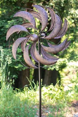 """Rustic Metal Wind Spinner 51"""""""