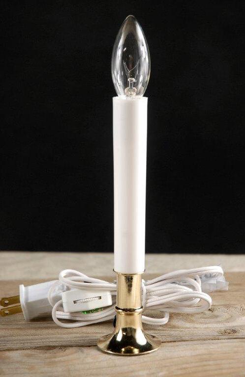 9 u0026quot  window candles brass base  c7 bulb 7 watt plug in