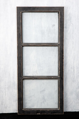 Window Frame Black 13x31in