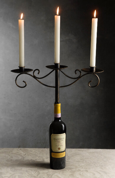 Wine Bottle Candelabra