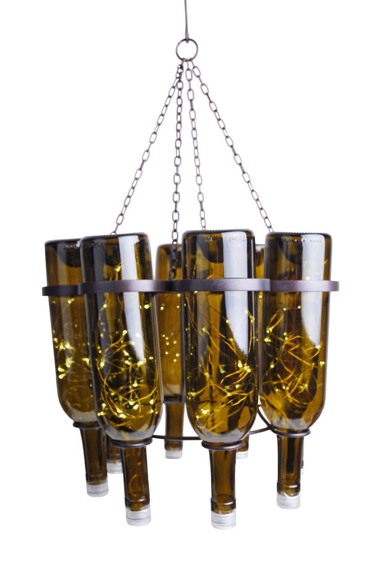 Wine bottle chandelier - Wine bottles chandelier ...