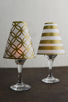 Wine Glass Lampshade Gold (Pack of 6)