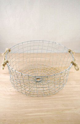 Wire Basket Round 14 x 6in