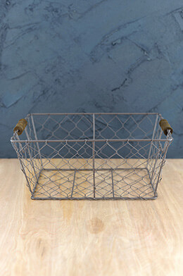 Wire Basket with Handles 12x9in