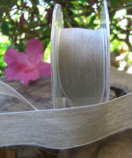 Linen Ribbon with White Edge 22ft