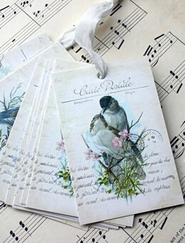 Wish Tree Hang Tags Love Birds (12 tags)