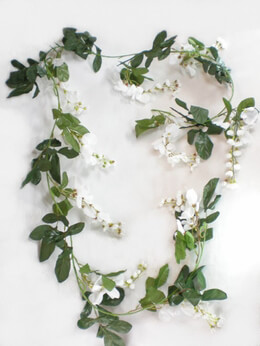 Silk Wisteria Garland Cream White 6ft