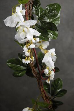 Wisteria Garland White Silk 6' w/ Grapevine Garland