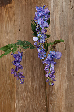 Wisteria Spray Purple 38in