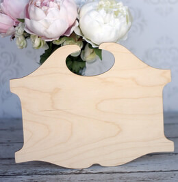 Wood Scroll Sign 12in