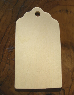 Unfinished Wood Hang Tags 3"