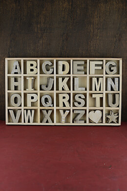 Wood Alphabet Letter Set,