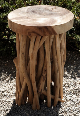 Driftwood Stool 20in