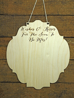 Wood Bridal Shower Guest Book Alternative