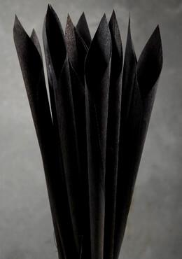 Wood Calla Cones Black (12 cones/ pkg)