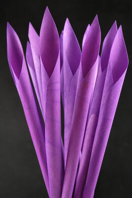 Wood Calla Cones Purple (12 cones/ pkg)
