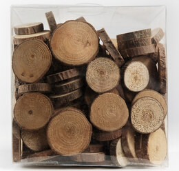 Wood Circle Slices 1in with Bark (11 ounce box)