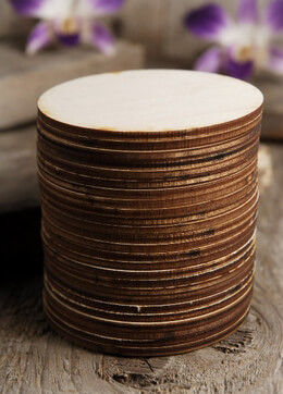 Wood Circles 3 inch Burned Edges (25 circles)