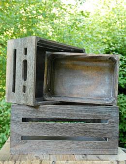 Wood Crate Light Brown (Set of 3)
