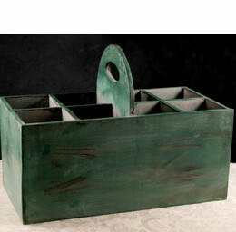 Rustic Wood Flatware Caddy