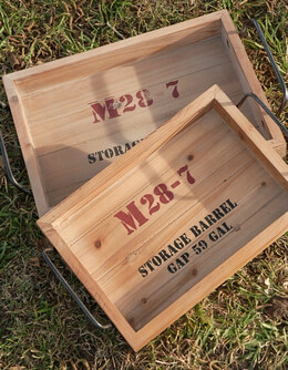 Wood Crate Trays (set of two)