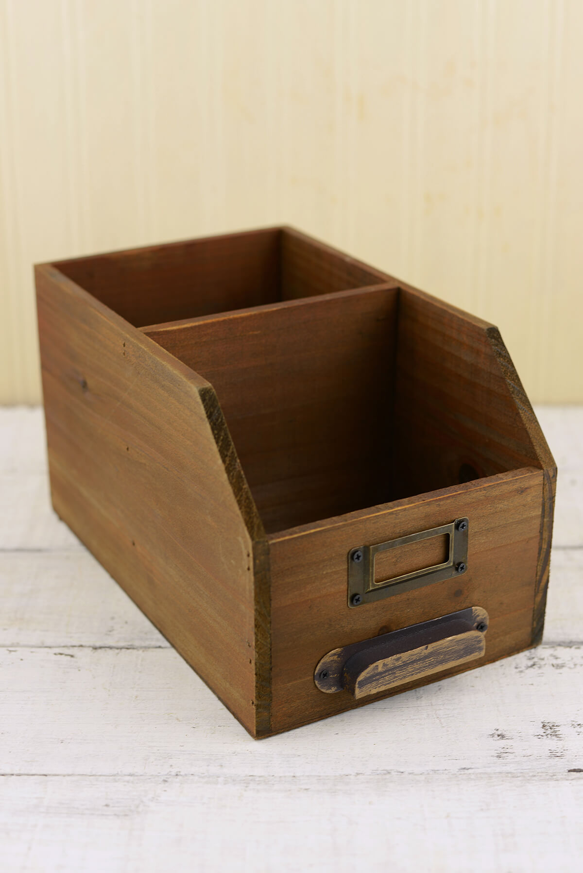 Wood Desk Organizer 10in