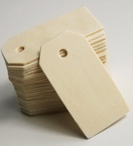 Unfinished Wood Hang Tags 2.25"