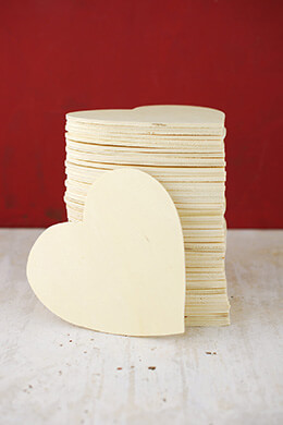 Wood Heart 4.75in (Pack of 48)