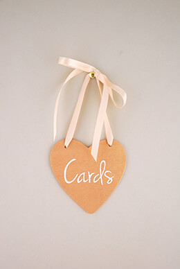 "Handmade Wood Heart ""Cards"" Sign  4.5in"