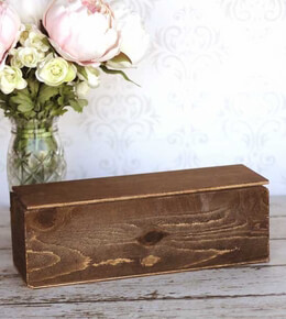 Wood Keepsake Boxes Walnut Stain 14 x 5 with Lid