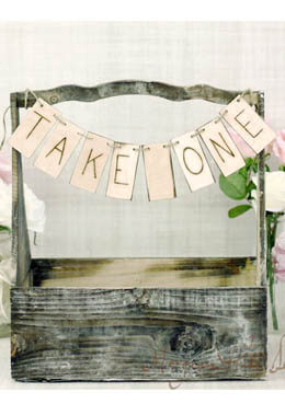 Take One Banner Rustic Wedding Banner 14in Wood Banner