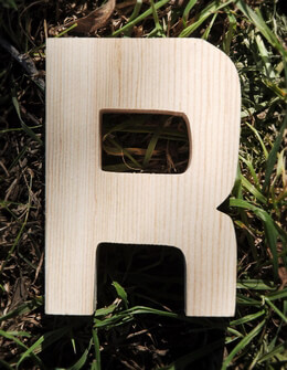 Wood Letter R - 4 inch Pine Letters