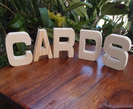 "Wood Letters ""CARDS"""