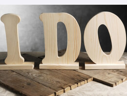 "Wood Letters ""I DO"" 9"" Tall"