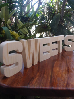 "Wood Letters SWEETS Block 4"" Pine Letters"