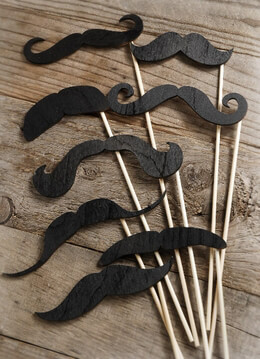 Mustache on a Stick Props | Pack of 8