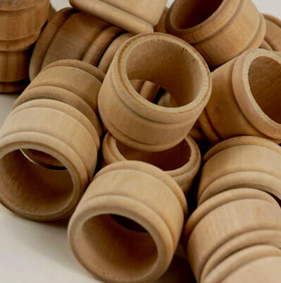 Wood Napkin Rings | Pack of 25