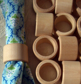 Wood Napkin Rings (25 pieces) Smooth Finish