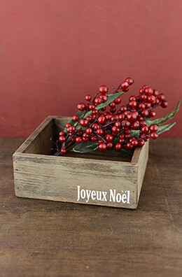 Wood Noel Box 8in