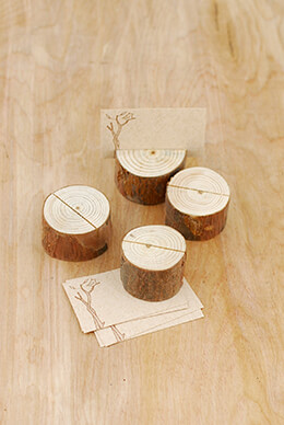 Wood Place Card Holders (Set of 4) 1.5""