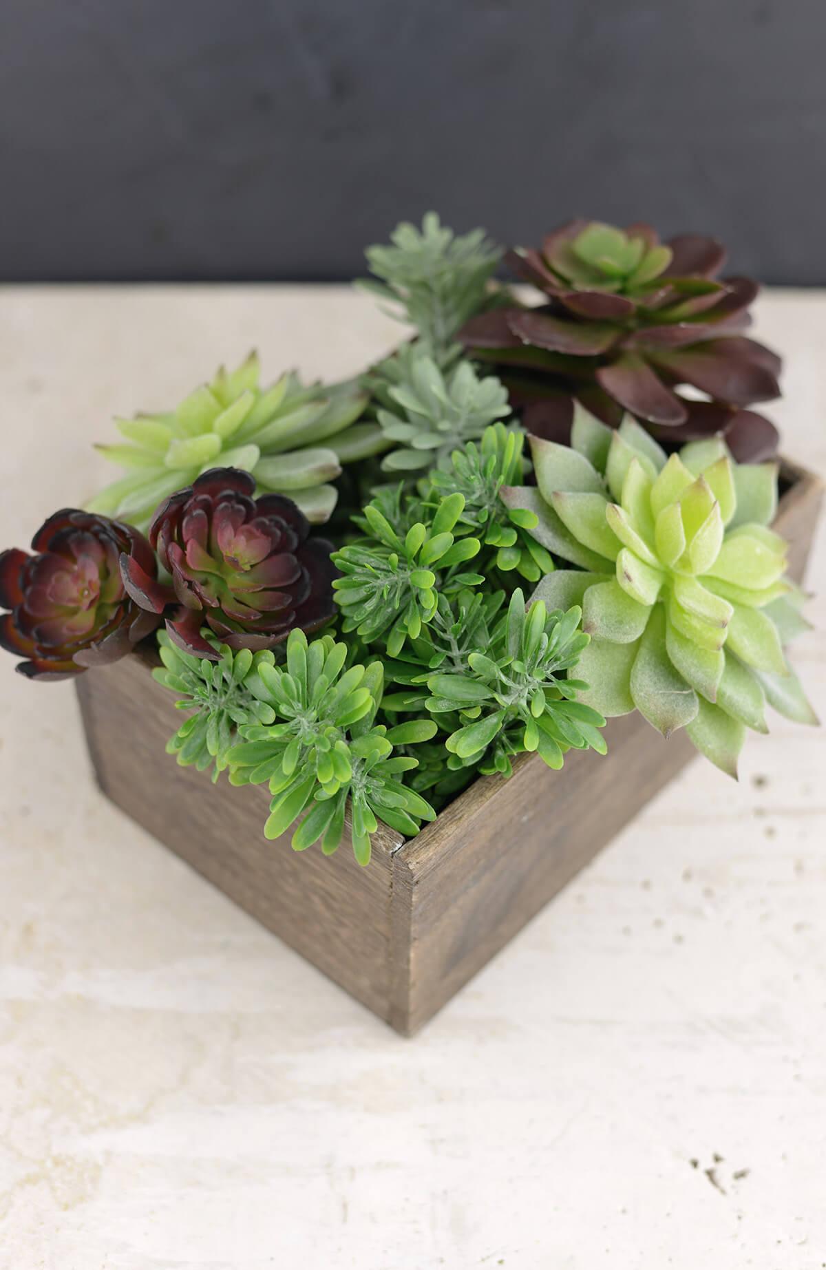 Wood Planter Box 5.5x7.5in