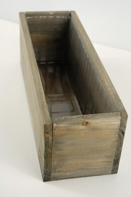 Wood Planter Box with Liner 11.75in