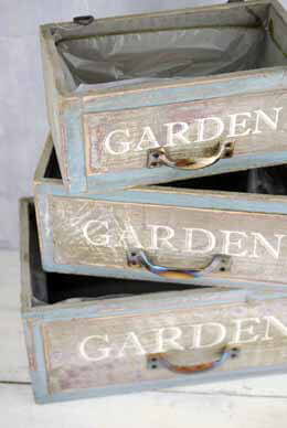 Wood Planter Boxes Garden (Set of 3)